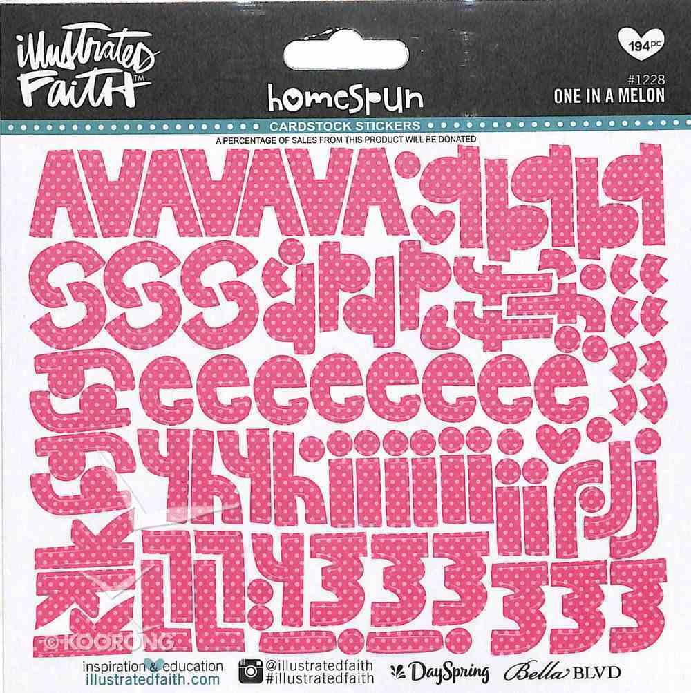 One in a Melon (Dark Pink Alphabet) (Illustrated Faith Homespun Alphabet Stickers Series) Stickers
