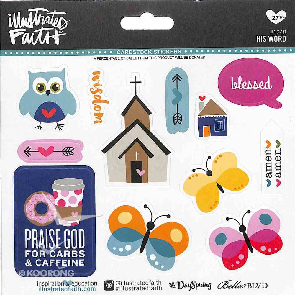 His Word (Illustrated Faith Sticker Icon Series) Stickers
