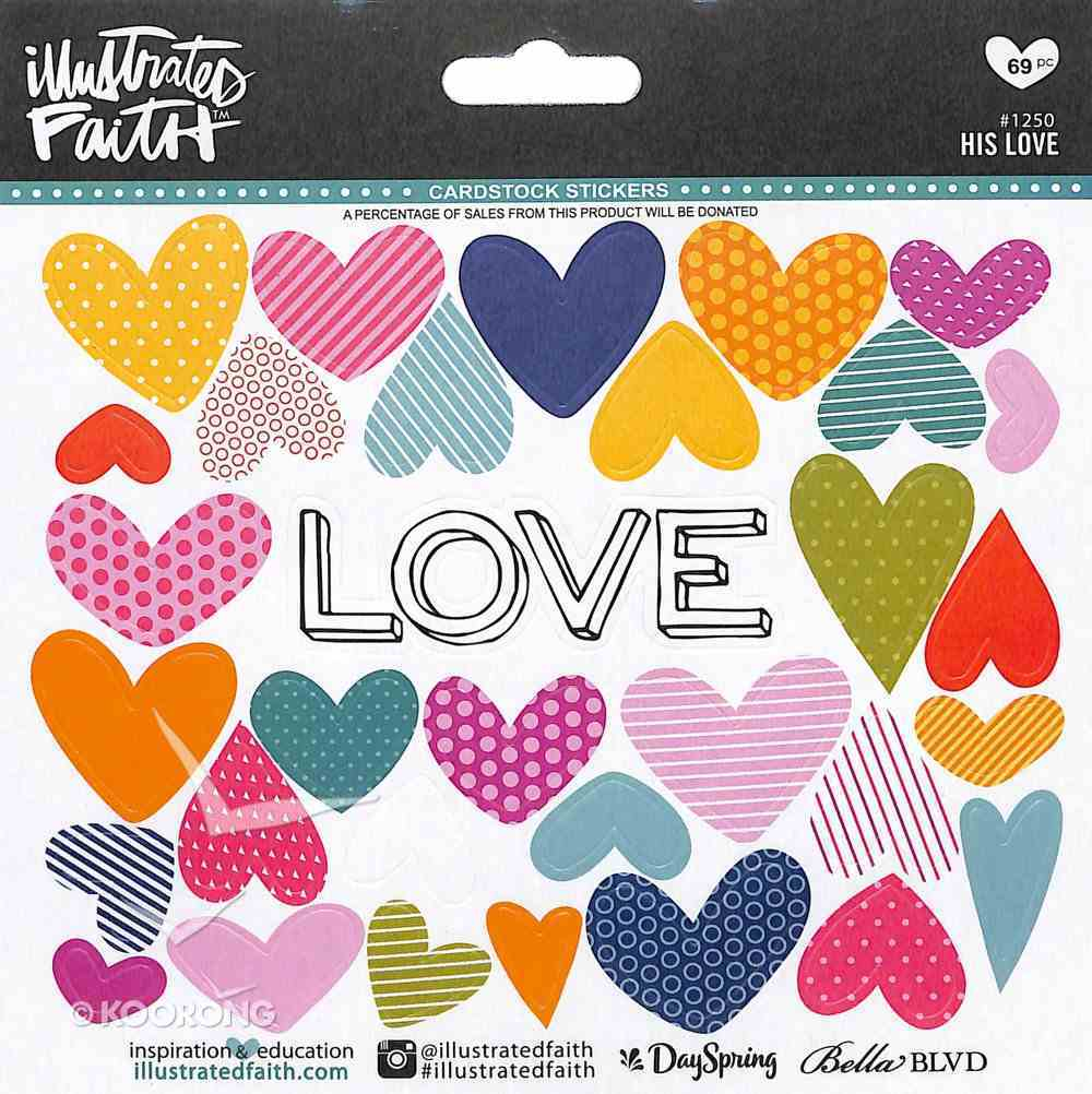 His Love (Illustrated Faith Sticker Icon Series) Stickers