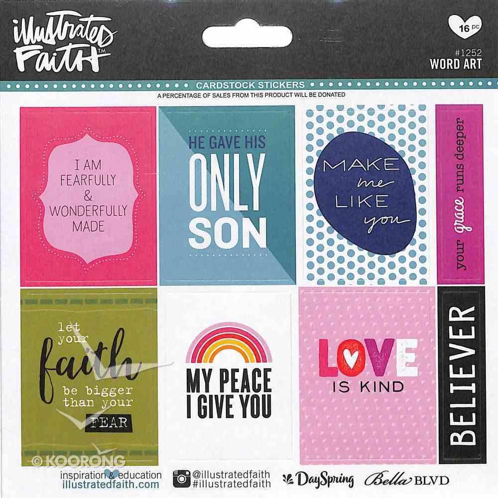 Word Art (Illustrated Faith Sticker Icon Series) Stickers