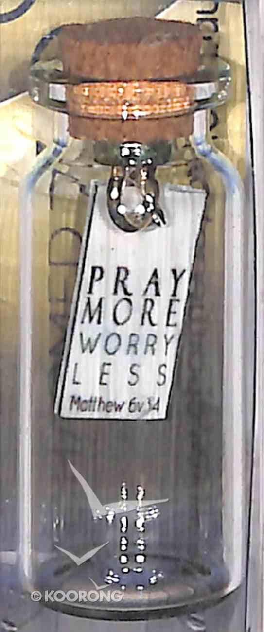 Tile Hanging in Small Bottle (Matthew 6: 34) Homeware