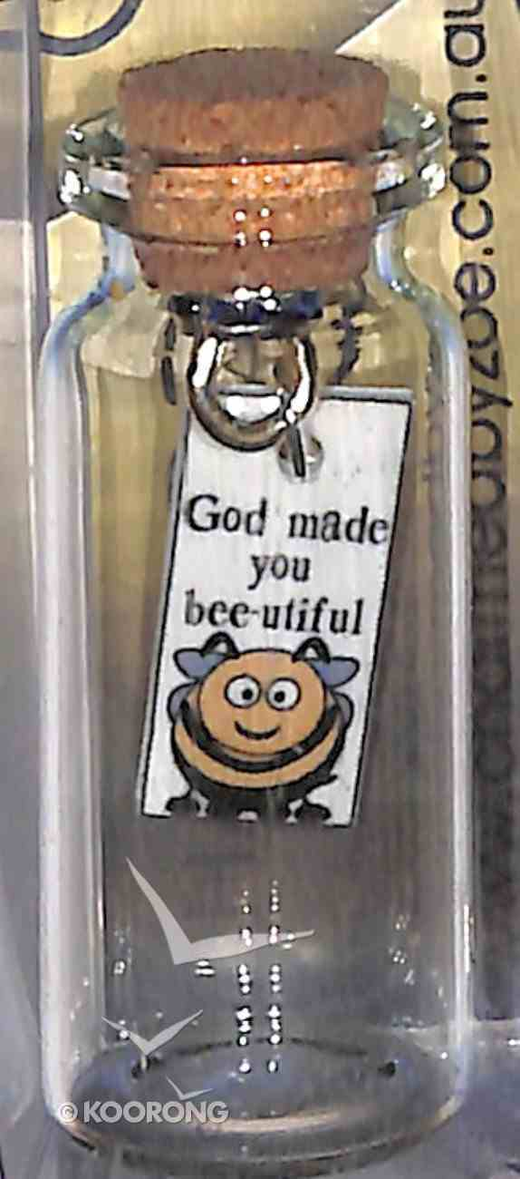 Tile Hanging in Small Bottle, God Made You Bee-Utiful Homeware