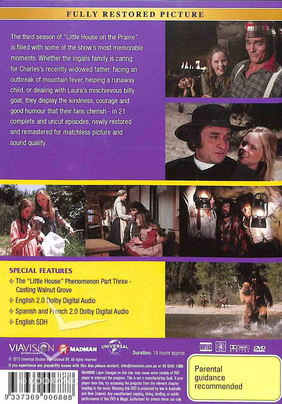Season 3 (Digitally Remastered & Uncut) (6 DVDS) (#03 in Little House On The Prairie Series) DVD