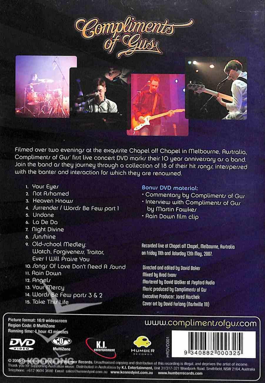 Live At Chapel Street DVD