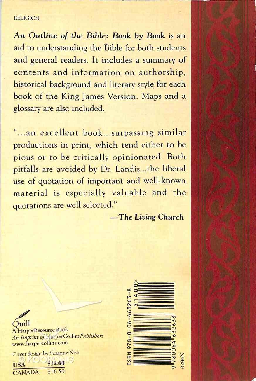An Outline of the Bible: Book By Book Paperback