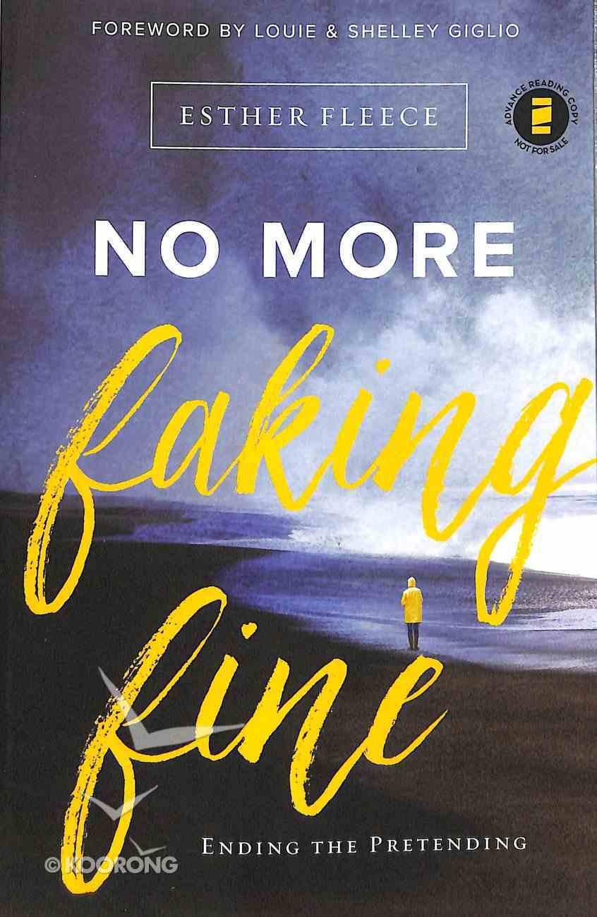 No More Faking Fine Paperback