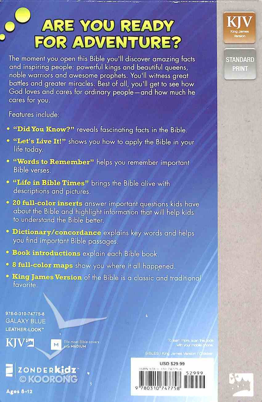 KJV Kids' Study Bible Blue Star (Black Letter Edition) Premium Imitation Leather