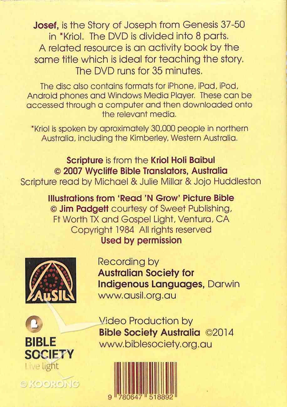 Kriol Josef (Aboriginal) (The Story Of Josef In Kriol) DVD