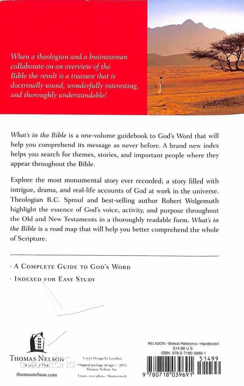 What's in the Bible? a Tour of Scripture From the Dust of Creation to the Glory of Revelation Paperback