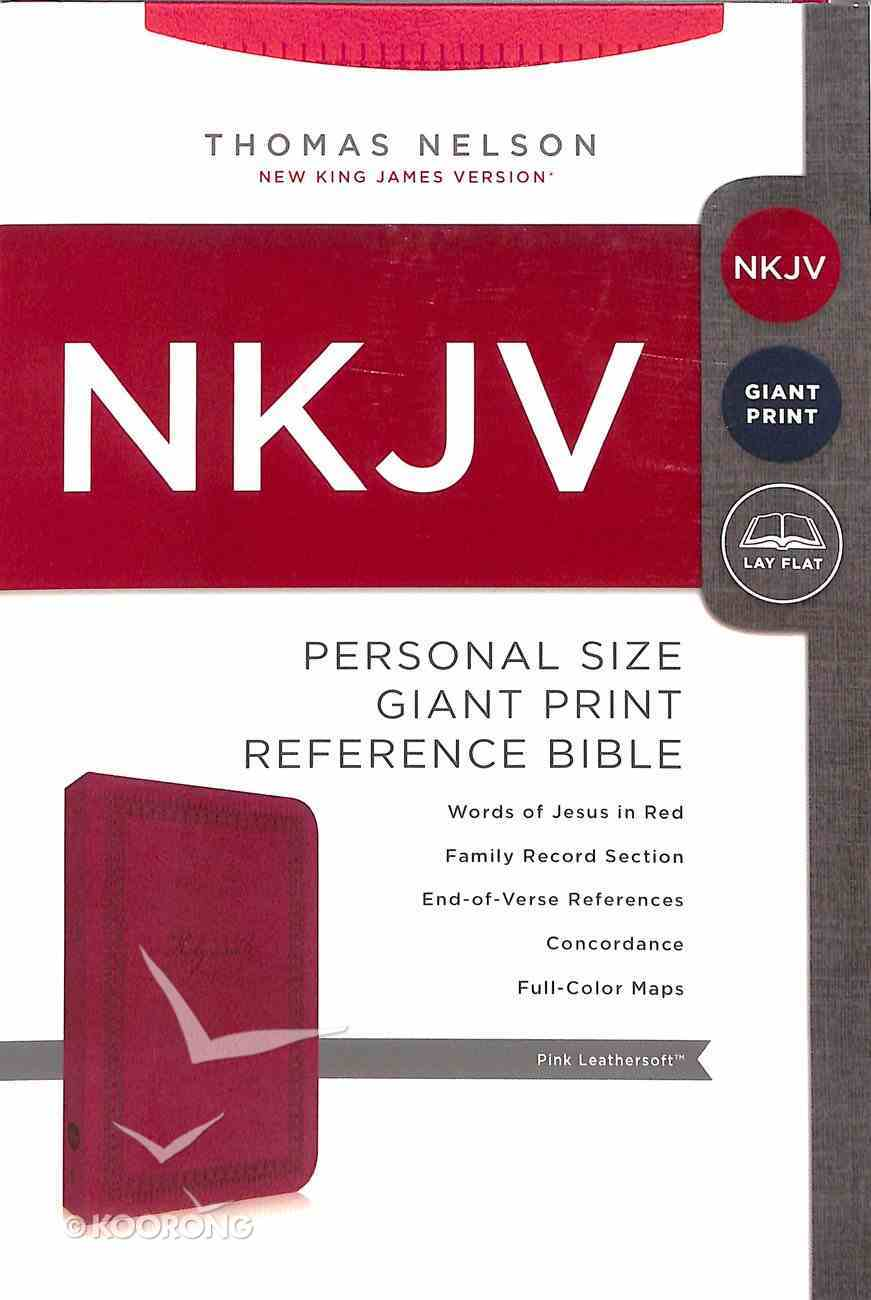 NKJV Personal Giant Print Pink Imitation Leather