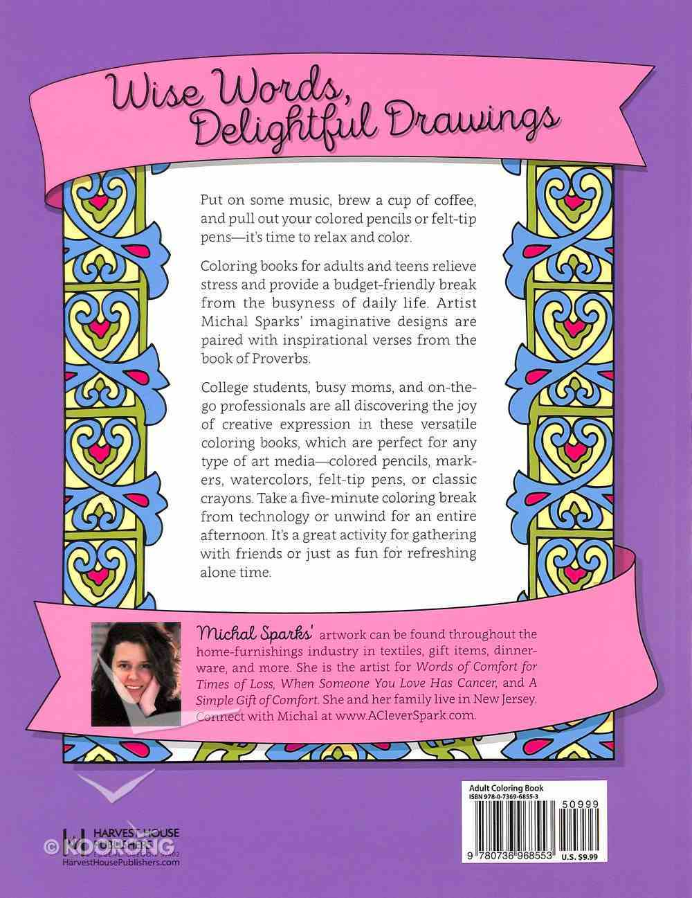 Color the Proverbs (Adult Coloring Books Series) Paperback