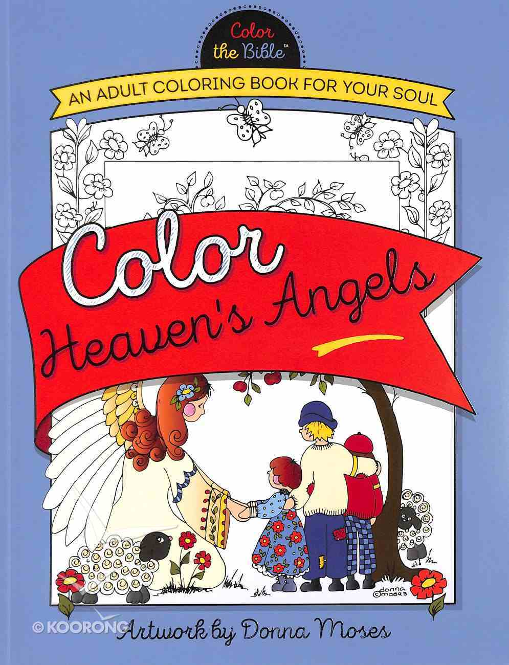 Color Heaven's Angels (Adult Coloring Books Series) Paperback