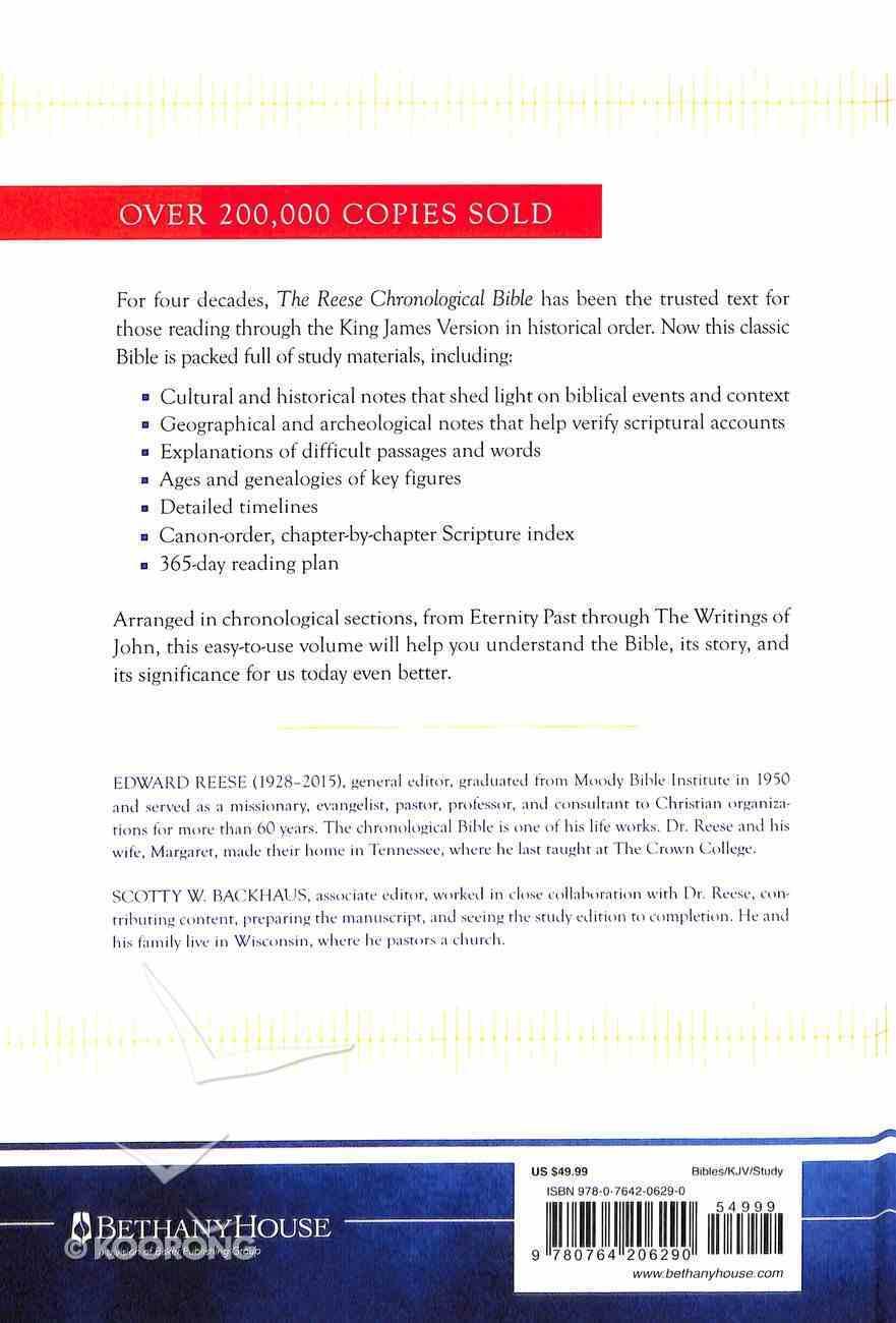 KJV Reese Chronological Study Bible Hardback
