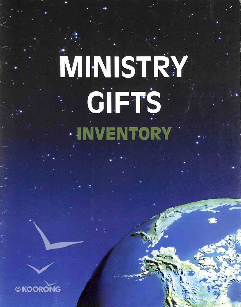 Ministry Gifts Inventory Paperback