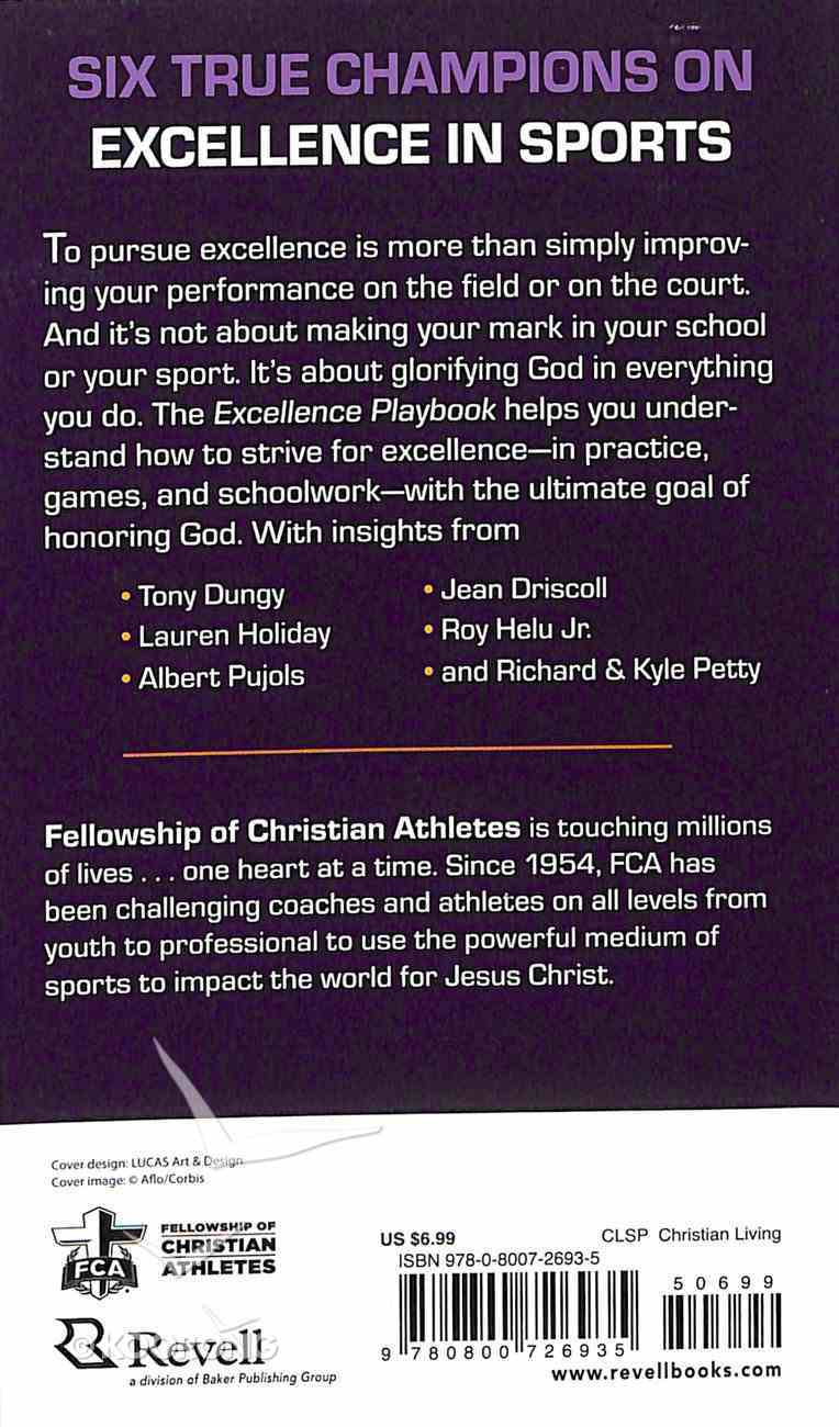 Excellence Playbook (The Fellowship Of Christian Athletics Series) Paperback