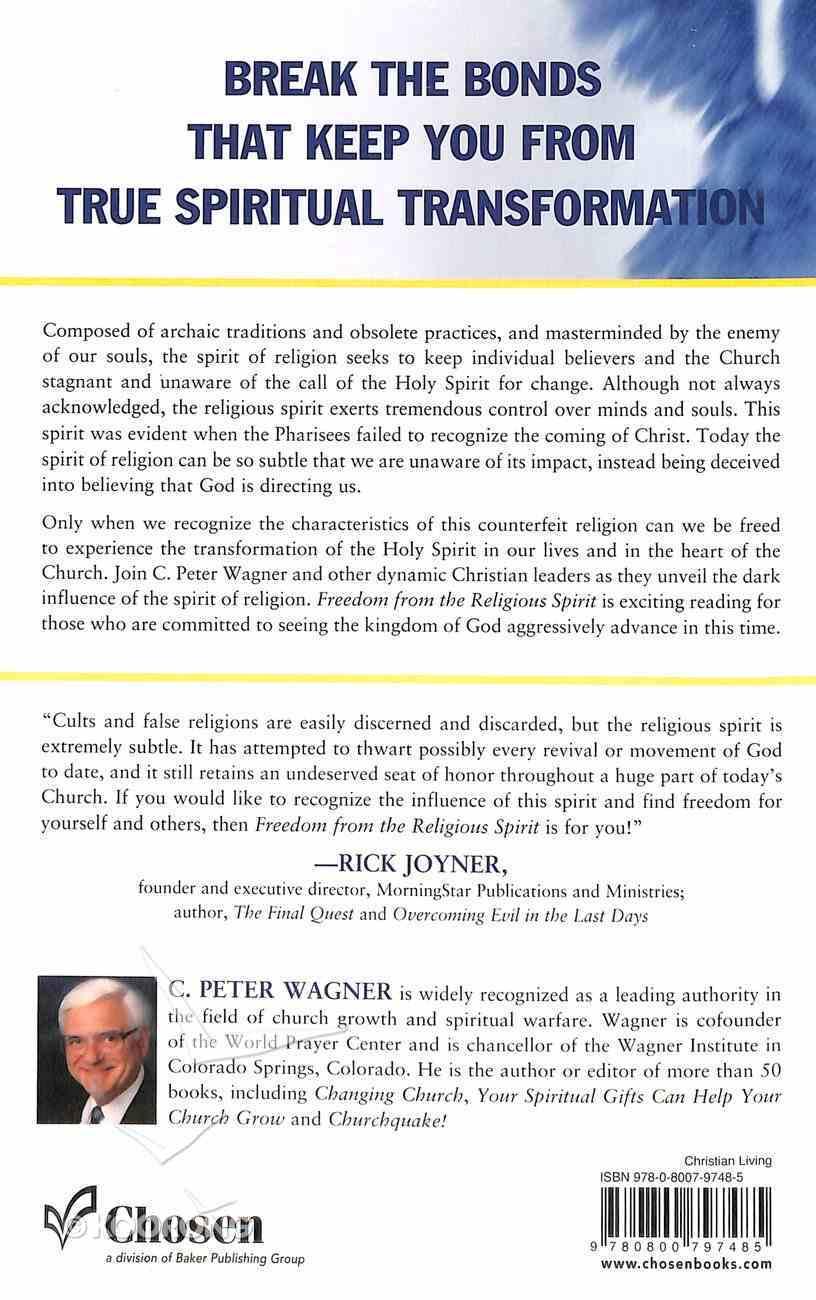 Freedom For the Religious Spirit Paperback