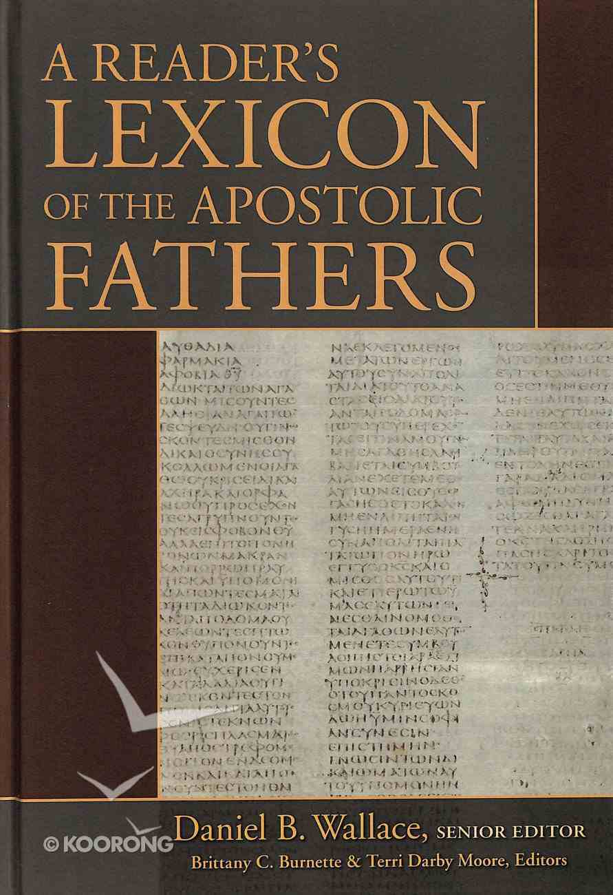 A Reader's Lexicon of the Apostolic Fathers Hardback