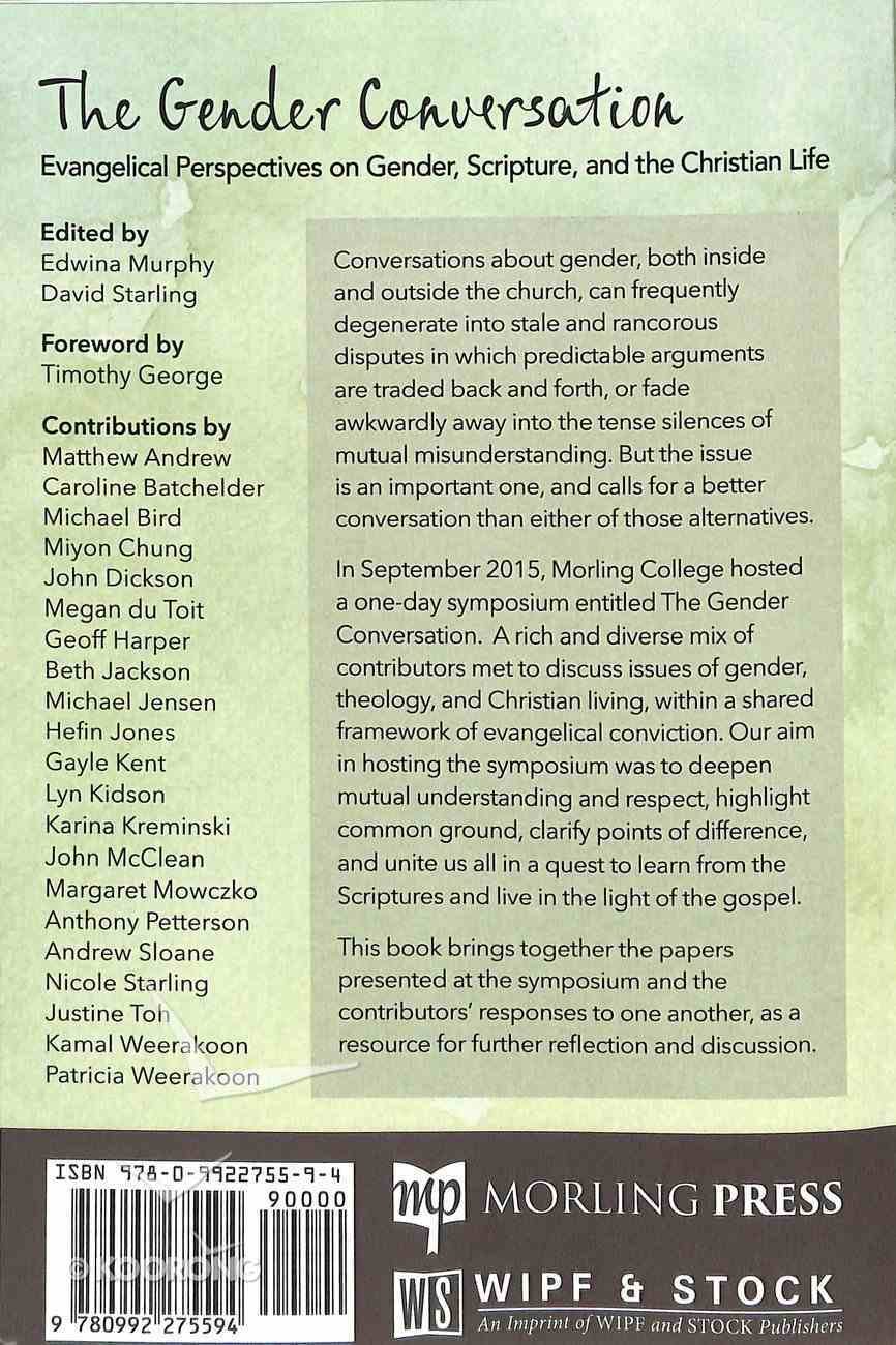 The Gender Conversation Paperback