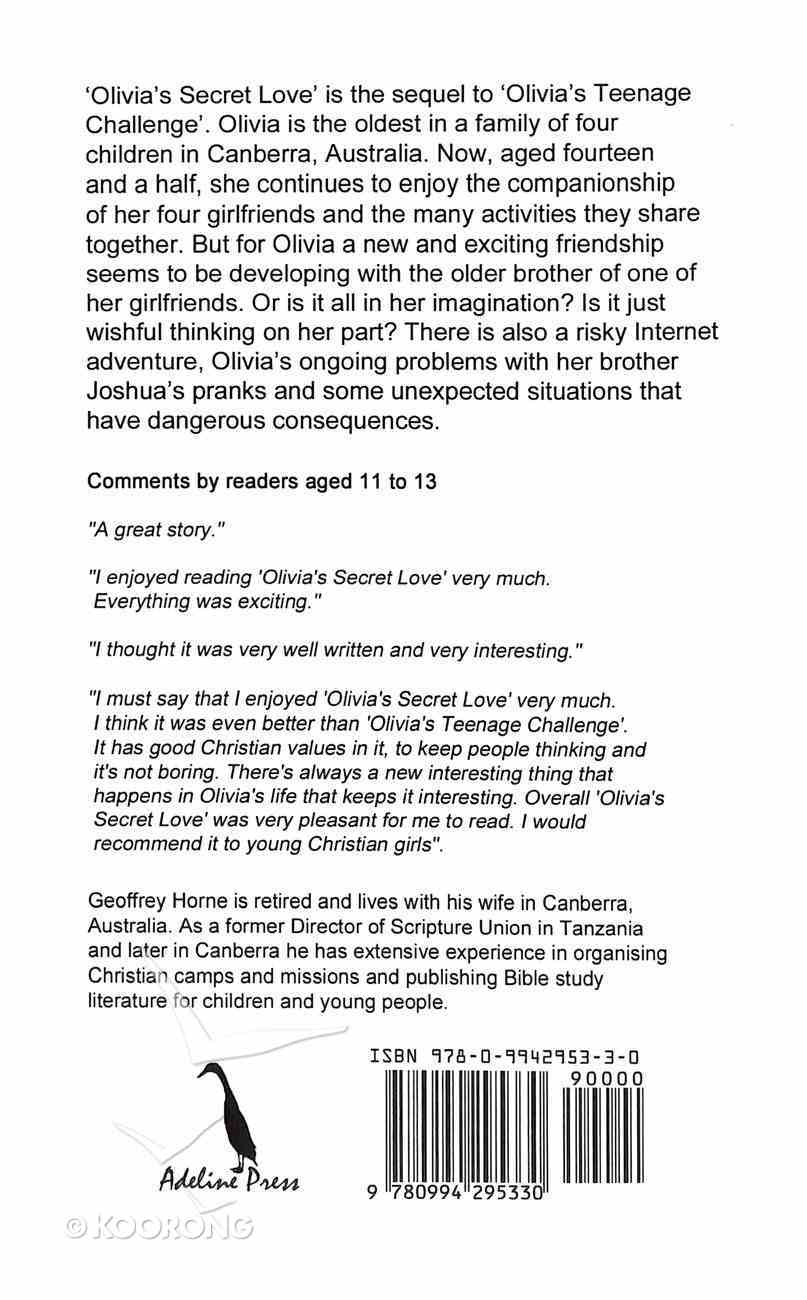 Olivia's Secret Love (#02 in Olivia Robertson Series) Paperback