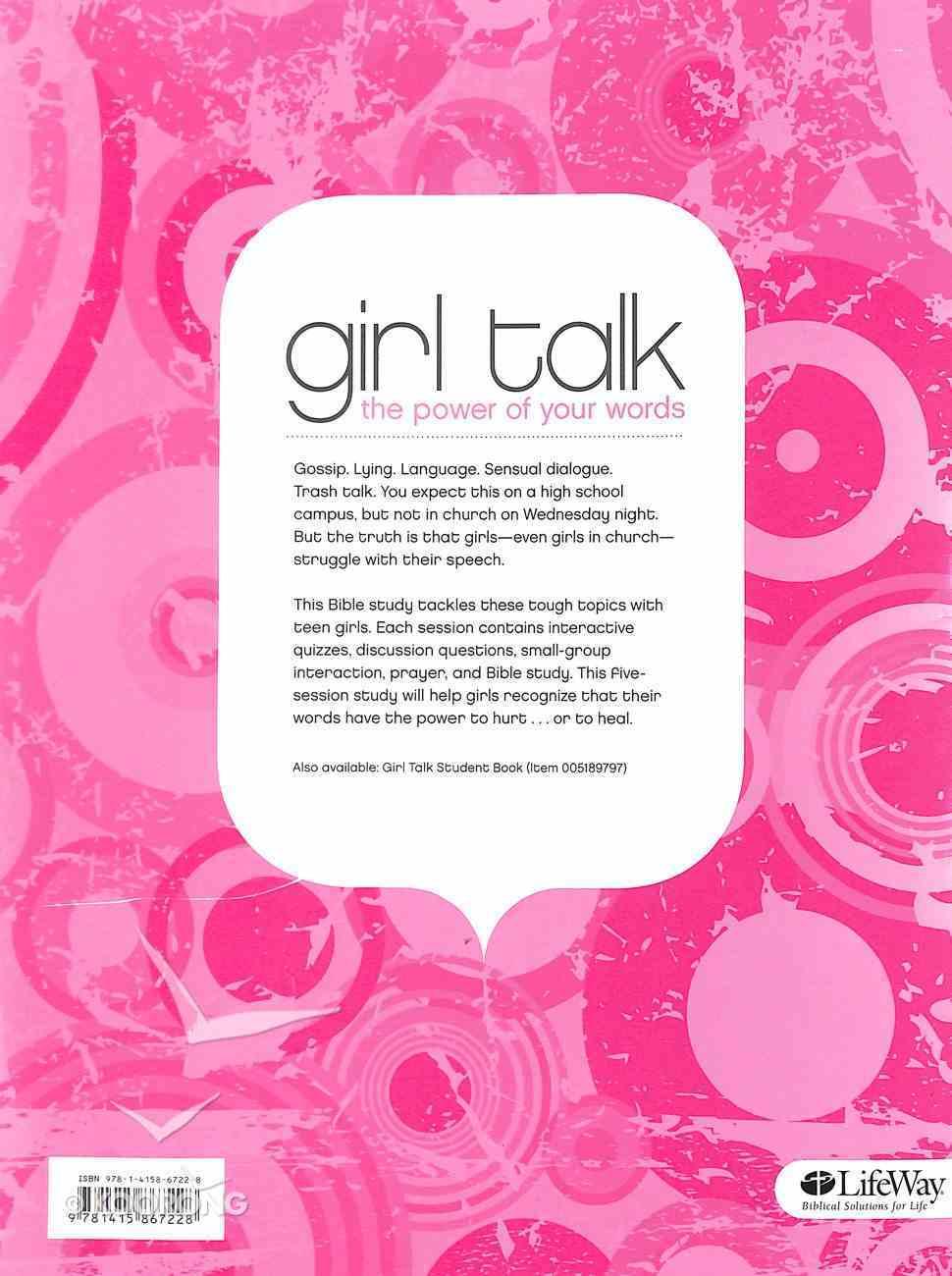 Girl Talk (Leader's Guide) Paperback