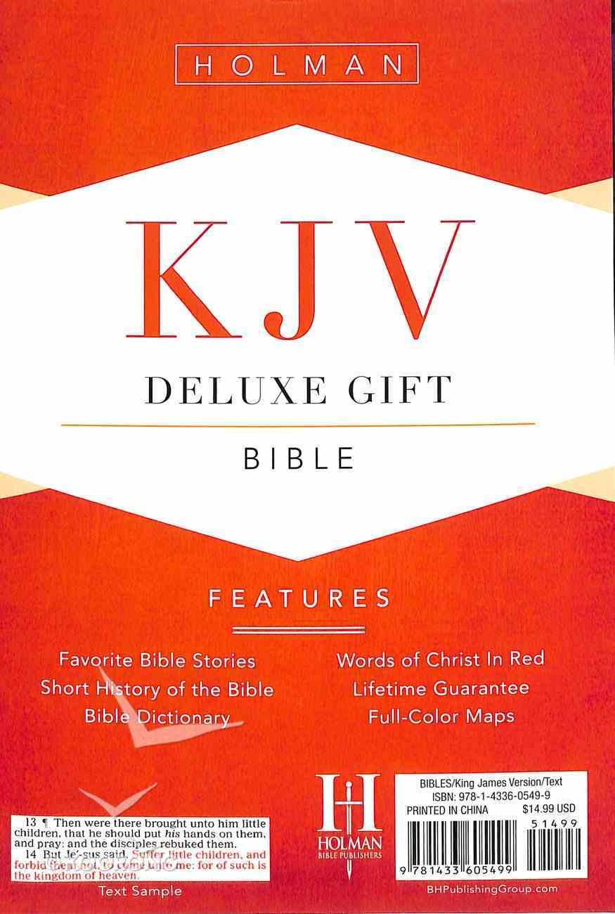 KJV Deluxe Gift Bible Purple Leathertouch Imitation Leather