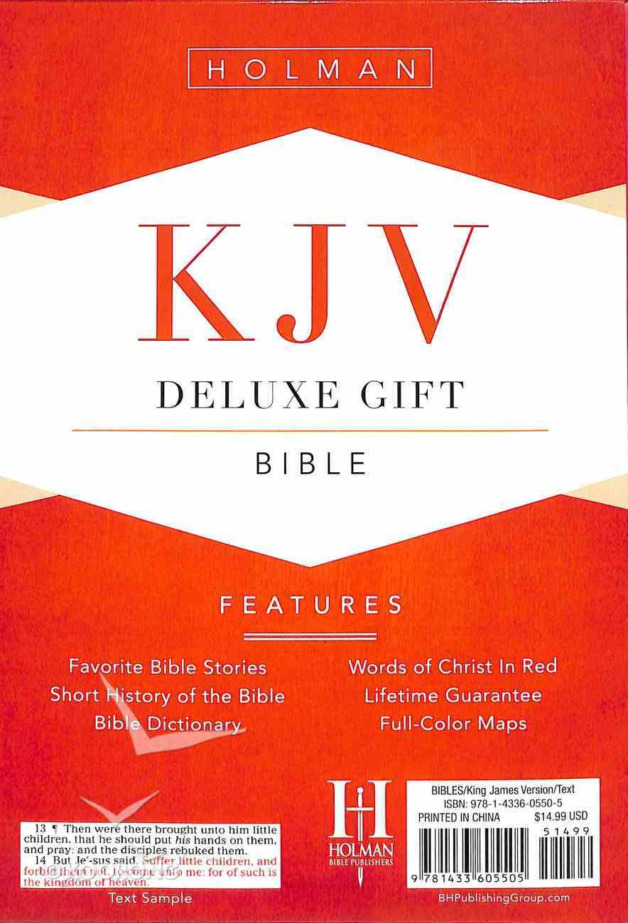 KJV Deluxe Gift Bible Pink Leathertouch Imitation Leather