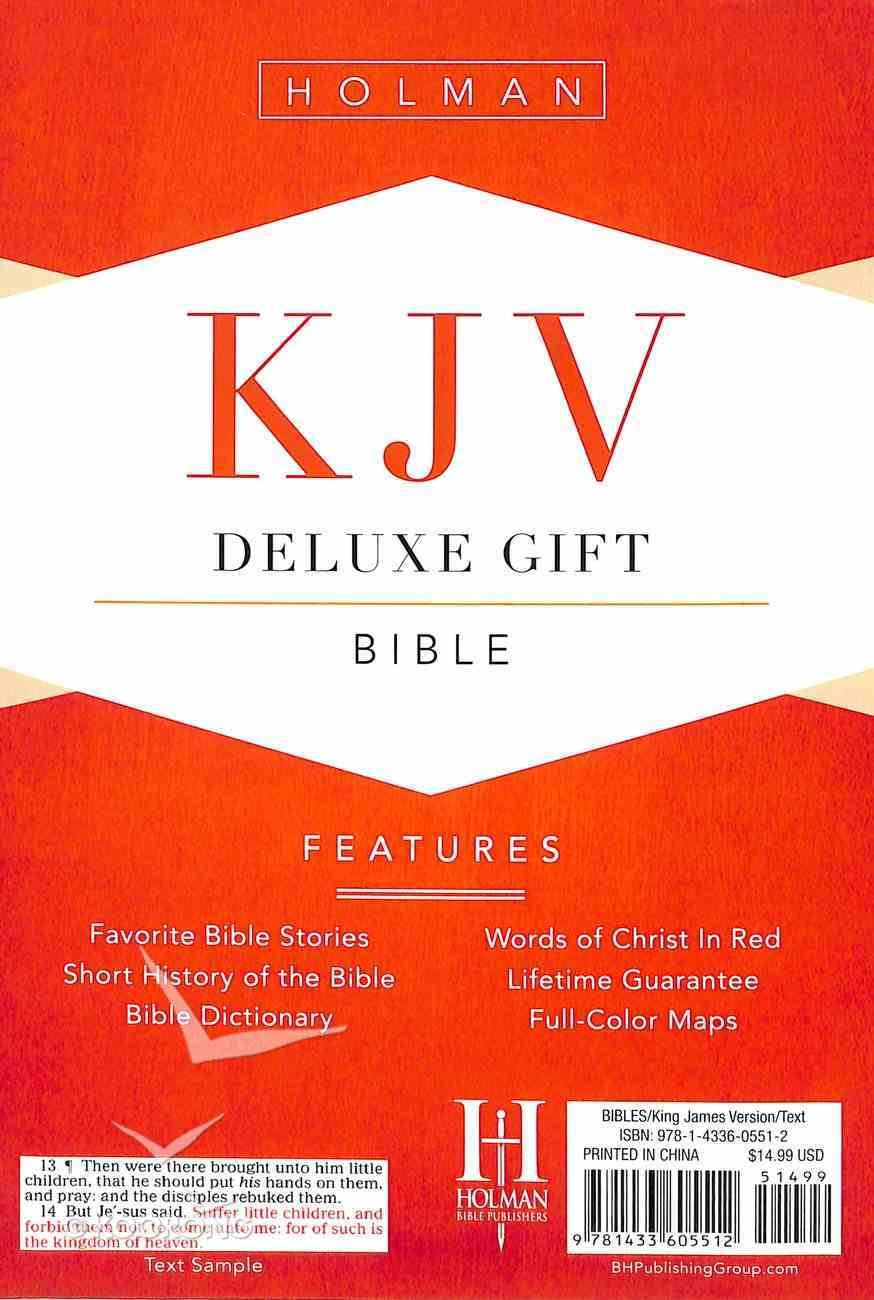 KJV Deluxe Gift Bible Brown/Chocolate Leathertouch Imitation Leather