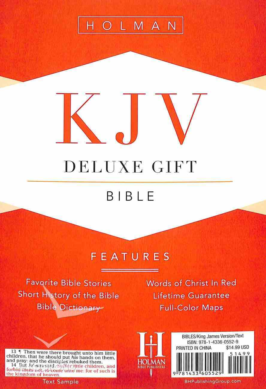 KJV Deluxe Gift Bible Charcoal Leathertouch Imitation Leather