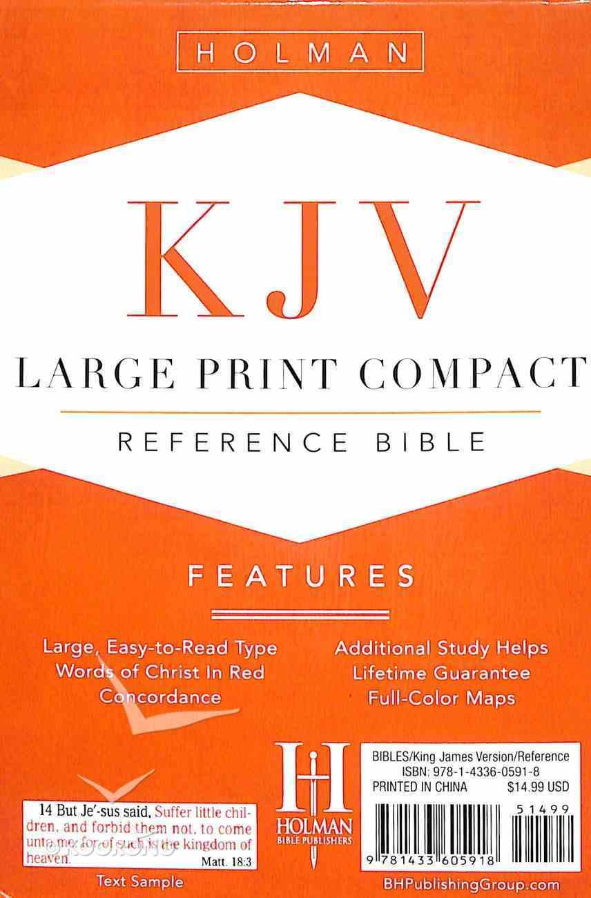 KJV Large Print Compact Reference Bible Purple Premium Imitation Leather