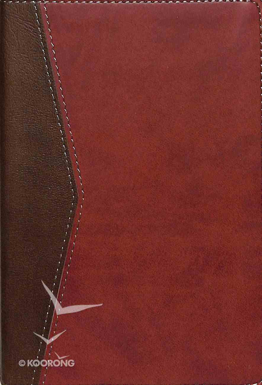 NKJV Compact Ultrathin Bible For Teens Walnut Leathertouch Imitation Leather
