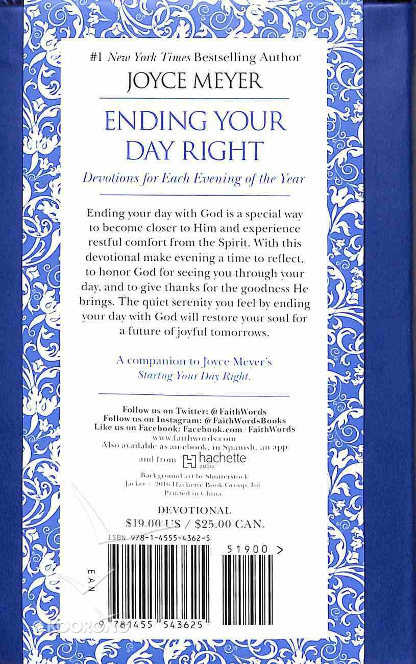 Ending Your Day Right: Devotions For Each Evening of the Year (Blue) Imitation Leather