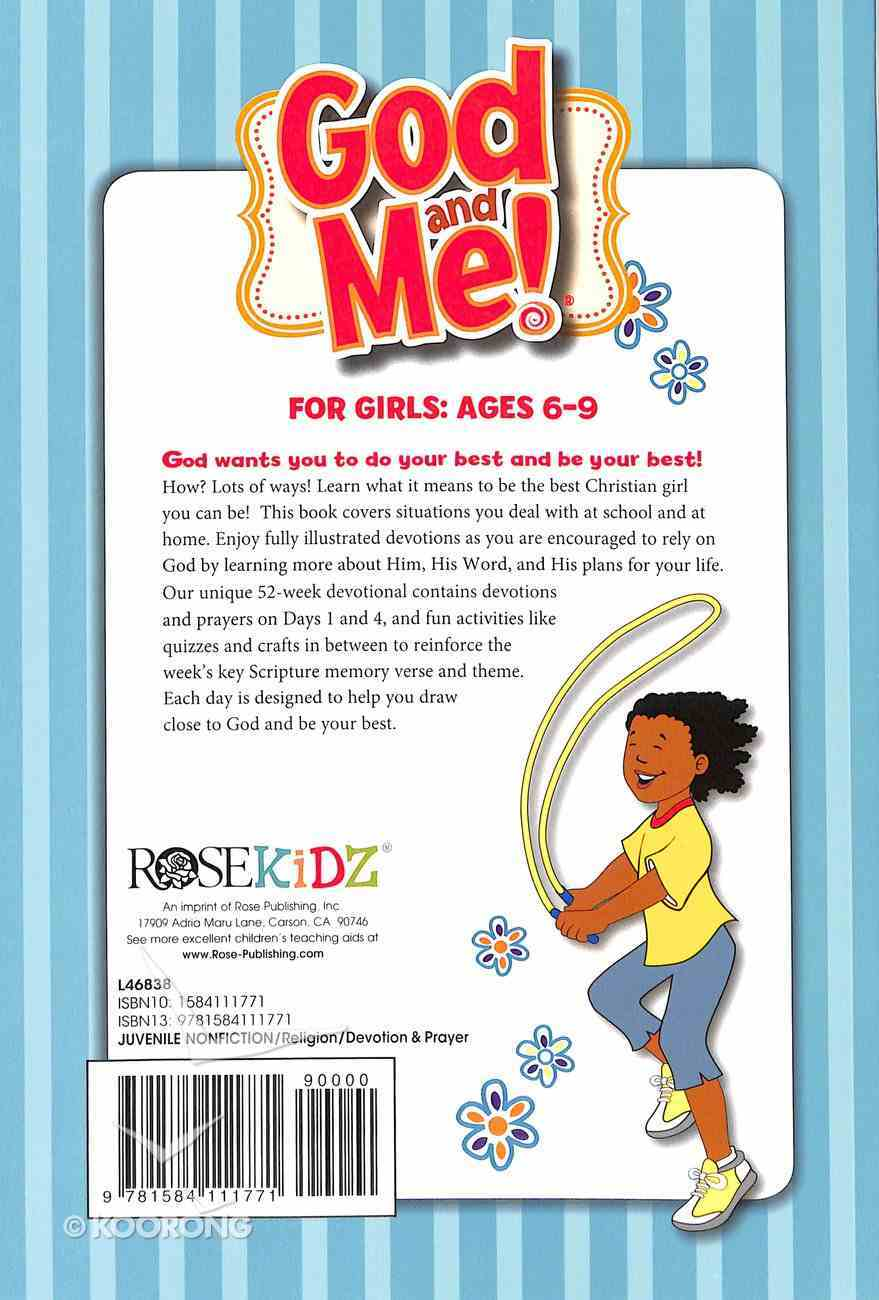 God and Me: 52 Week Devotional For Girls Ages 6-9 Paperback