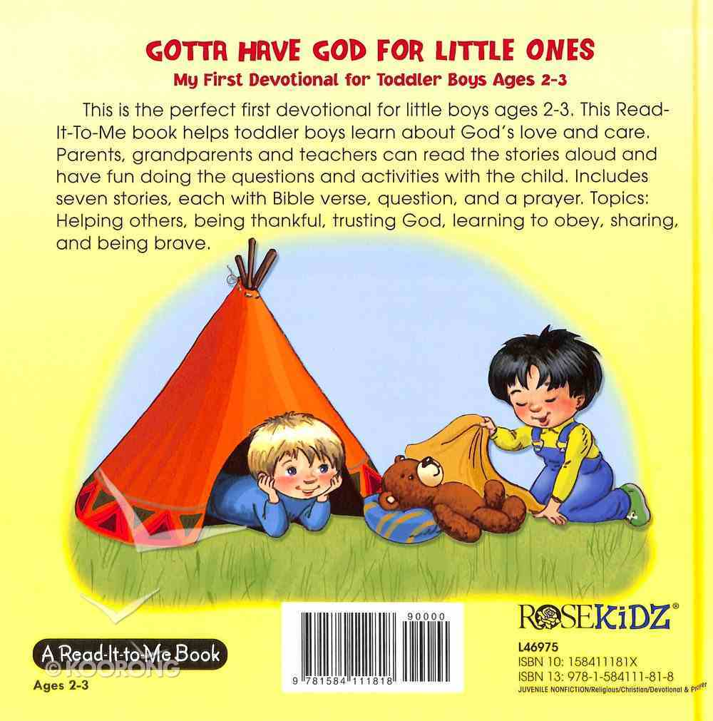 My First Devotional For Toddler Boys Ages 2-3 (Gotta Have God For Little Ones Series) Hardback