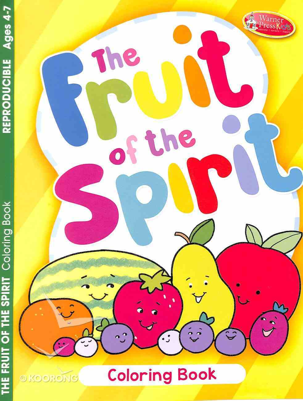 Fruit of the Spirit (Ages 4-7, Reproducible) (Warner Press Colouring & Activity Books Series) Paperback