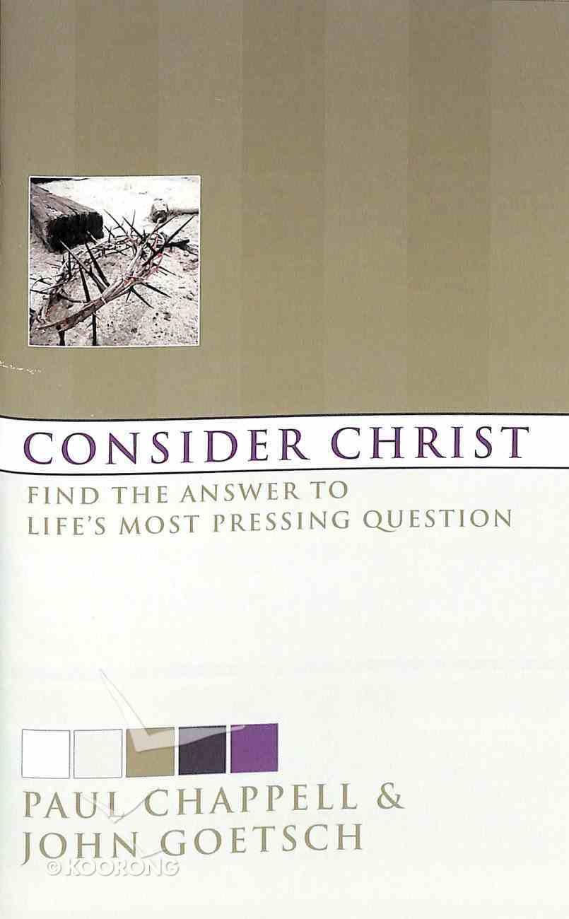Consider Christ Booklet
