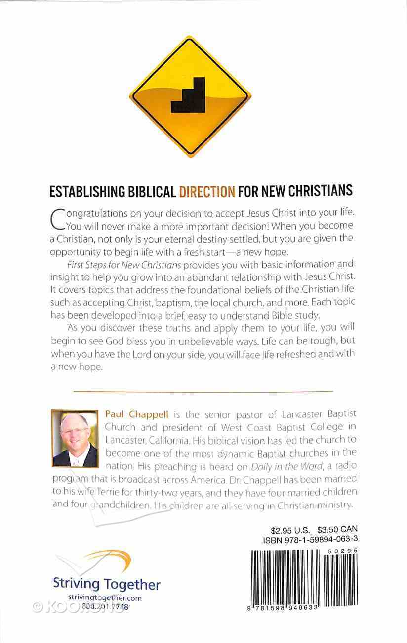 First Steps For New Christians Booklet