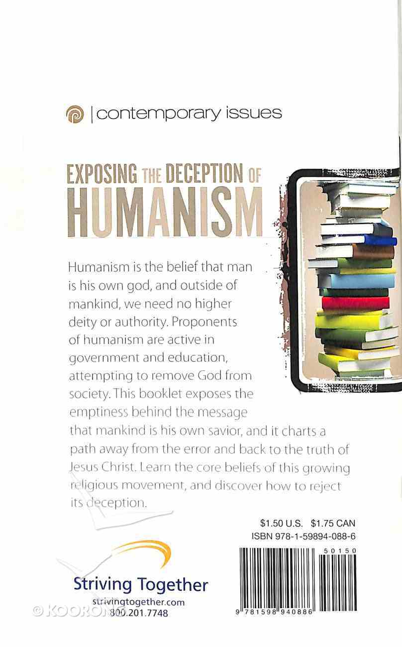 Exposing the Deception of Humanism (Contemporary Issues Series) Booklet