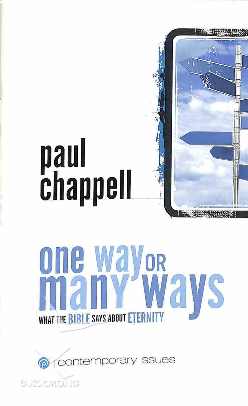 One Way Or Many Ways (Contemporary Issues Series) Booklet