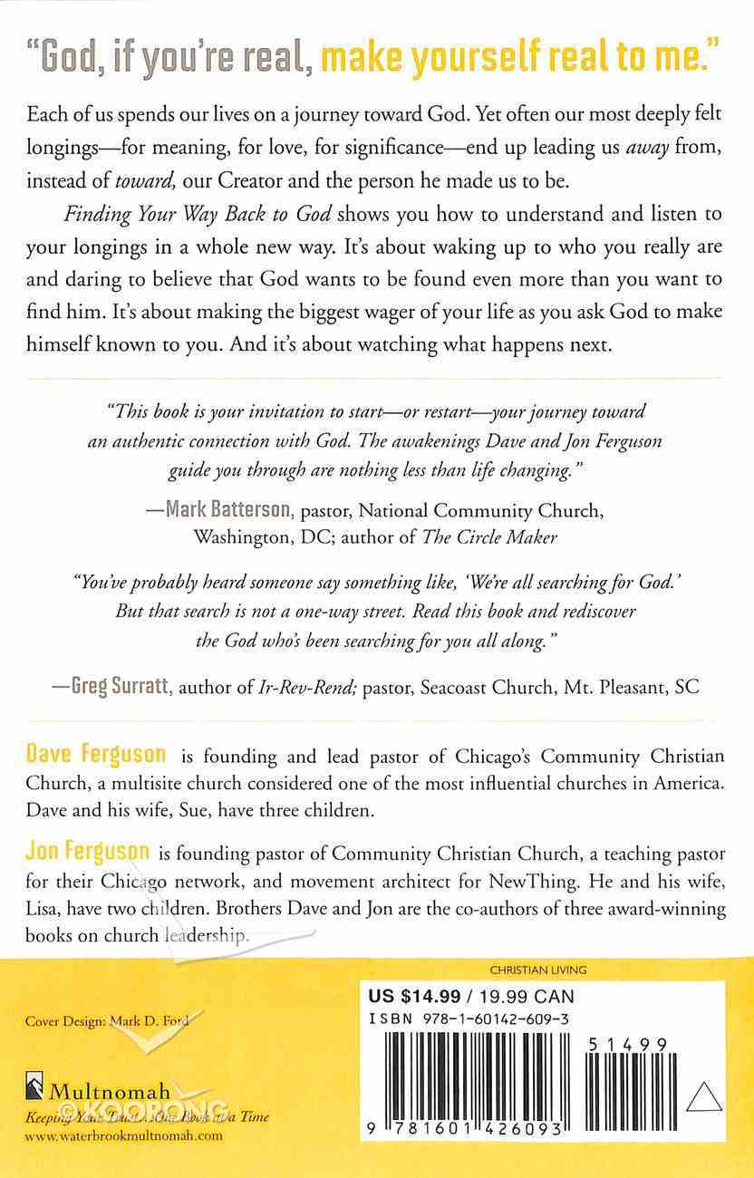Finding Your Way Back to God Paperback