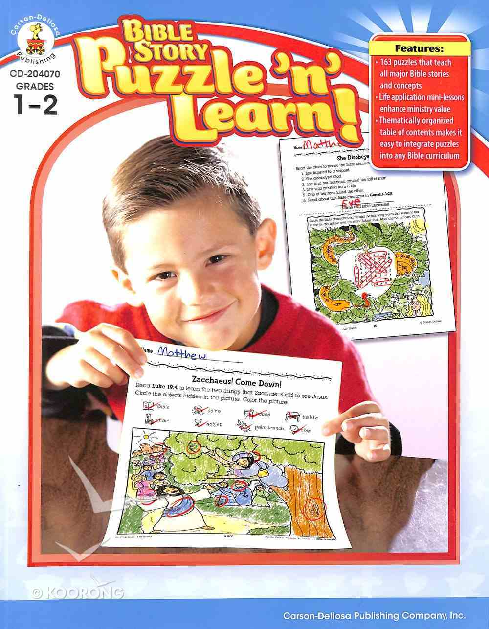 Bible Story Puzzle 'N' Learn!, Grades 1 - 2 Paperback