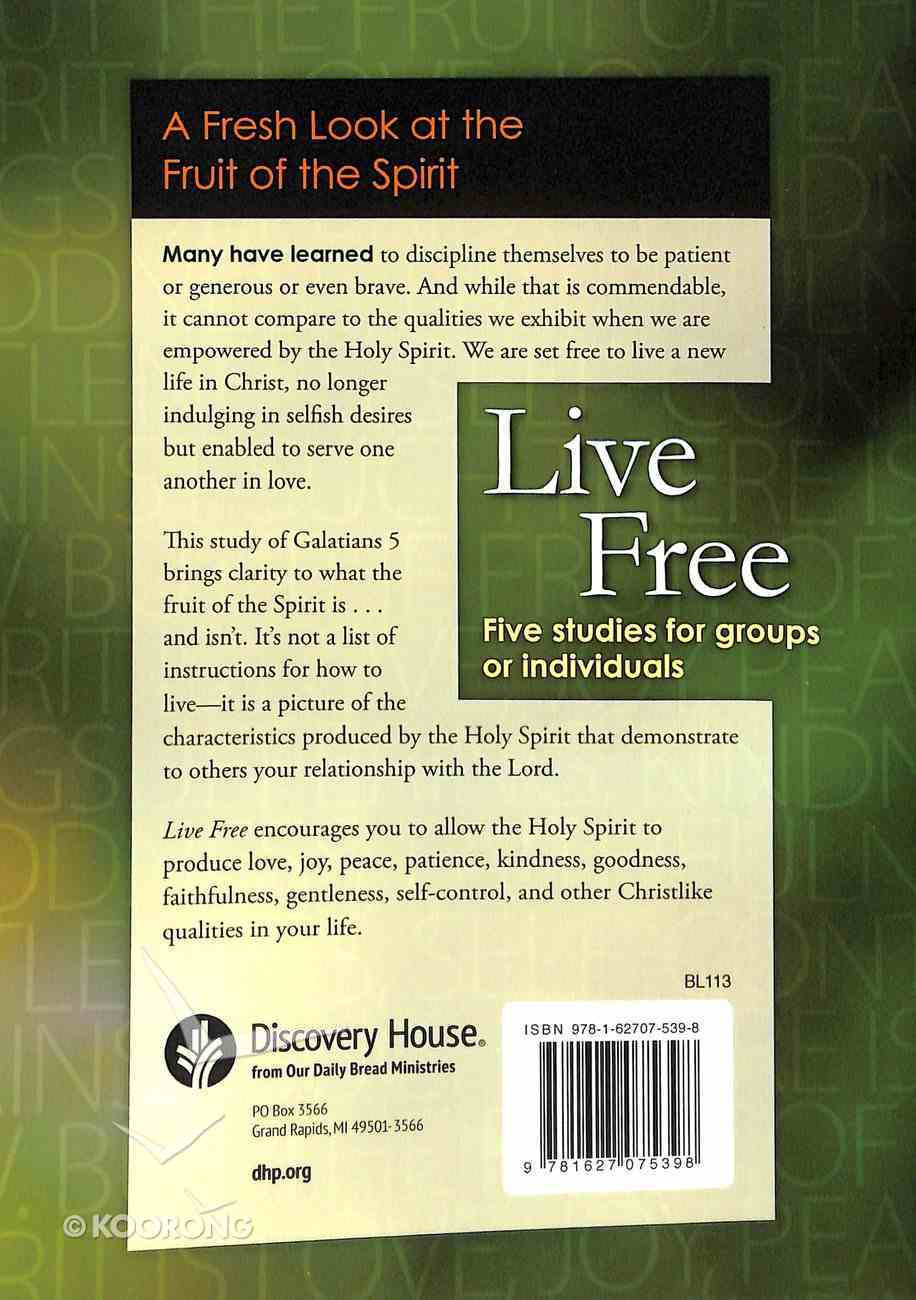 Live Free (Discovery Series Bible Study) Paperback