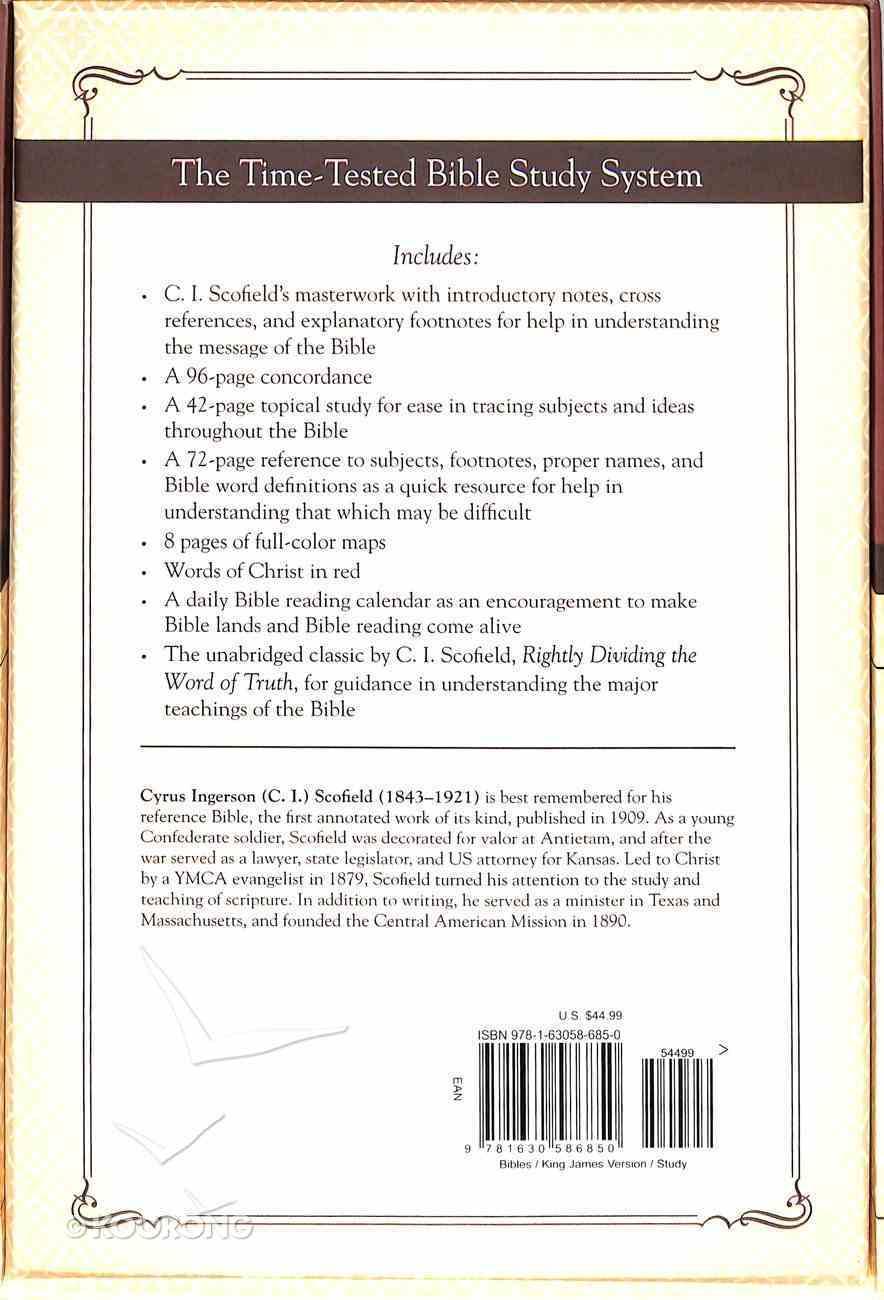 KJV Scofield Classic Study Bible, the Black Bonded Leather