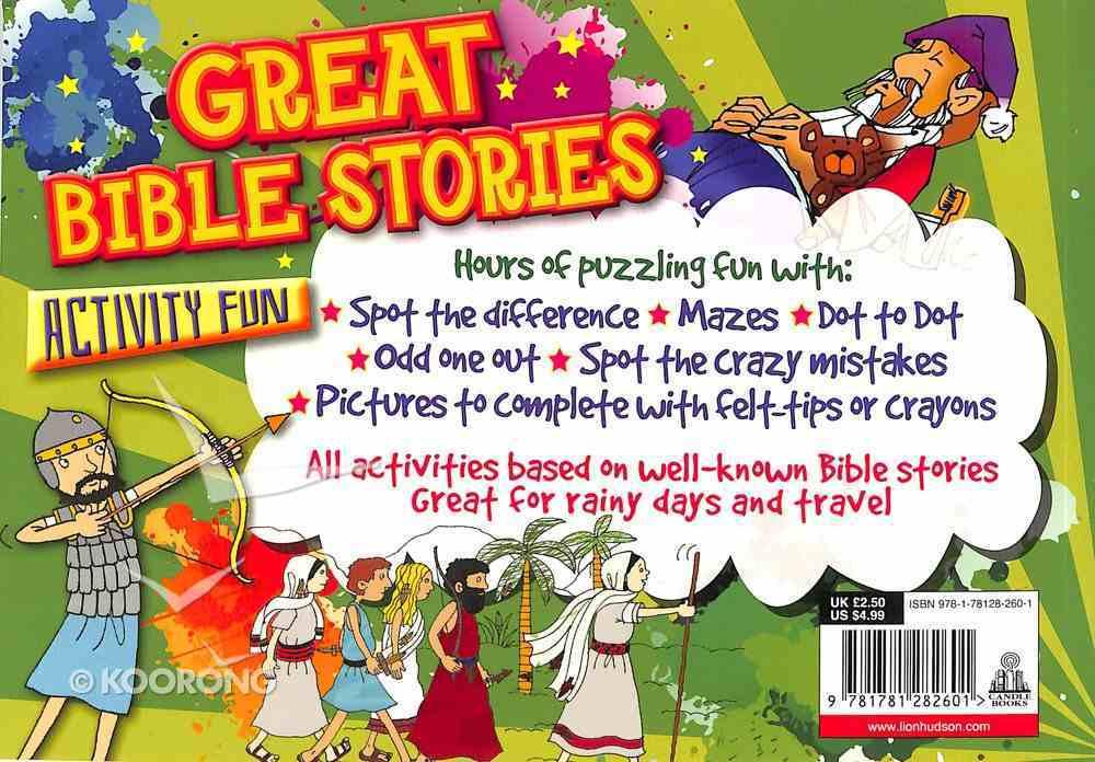 Bible Activity Fun: Great Bible Stories Paperback