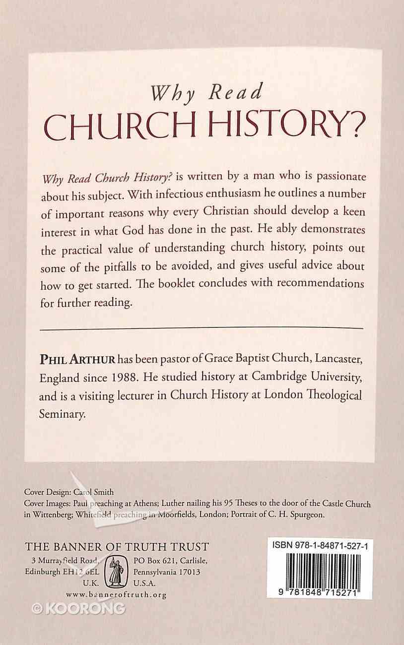 Booklet Why Read Church History? Booklet