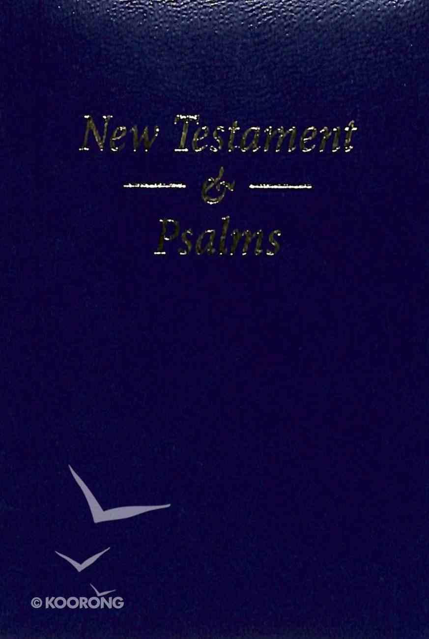 KJV Pocket New Testament and Psalms Blue Vinyl Vinyl