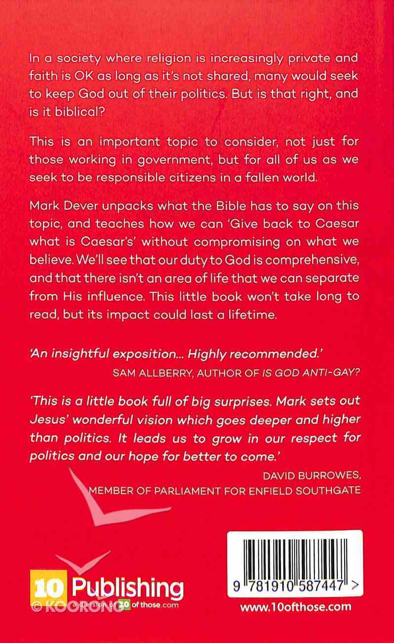 God and Politics: Jesus' Vision For Society, State and Government Booklet