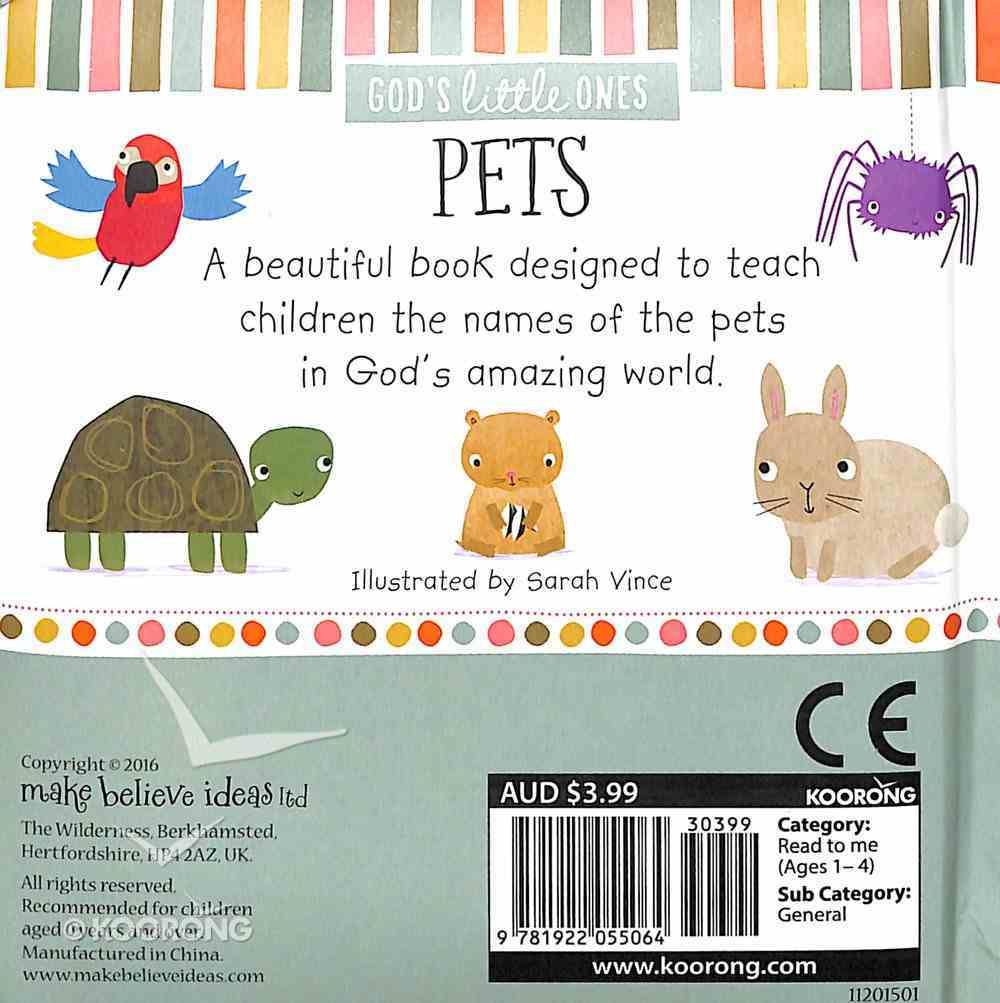 Pets (God's Little One's Series) Padded Board Book