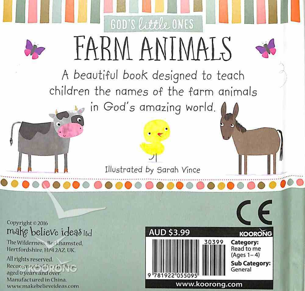 Farm Animals (God's Little One's Series) Padded Board Book