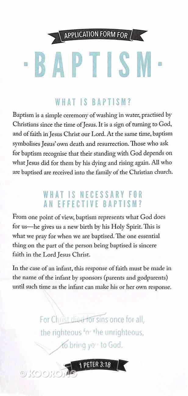 Baptism Application Form (1 Peter 3: 18) Stationery