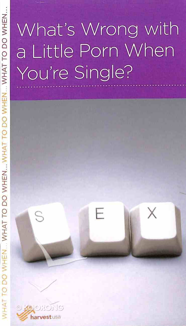 What's Wrong With a Little Porn When You're Single? (Mini Books For Singles Series) Booklet